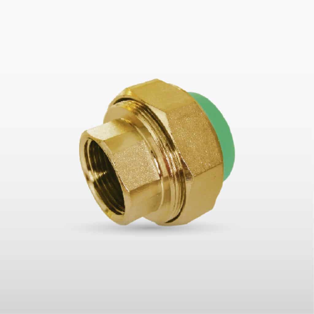ยูเนี่ยนเกลียวนอก ทองเหลือง (โลหะ/พลาสติก) (M/F): Brass Male Thread Union