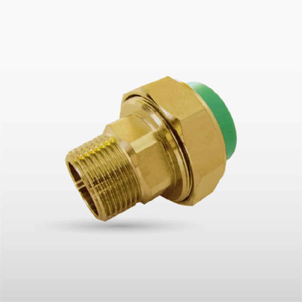 ยูเนี่ยนเกลียวนอก ทองเหลือง (โลหะ/พลาสติก) (M/F): Male Thread Union